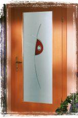 Türverglasung, Ornamentgläser, Rillenschliff